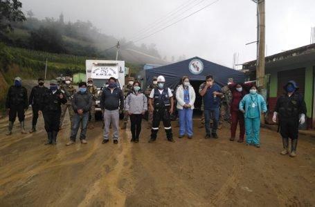 Instalan puesto de control de personas y vehículos en Pillao
