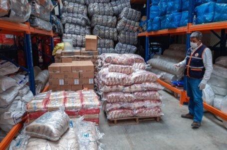 Llegan 21.5 toneladas de ayuda para 11 distritos afectados por lluvias