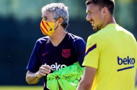 Barcelona luce sus nuevas mascarillas en la vuelta a los entrenamientos