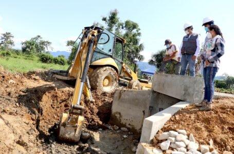 Supervisan avance de obras en La Morada y Aucayacu