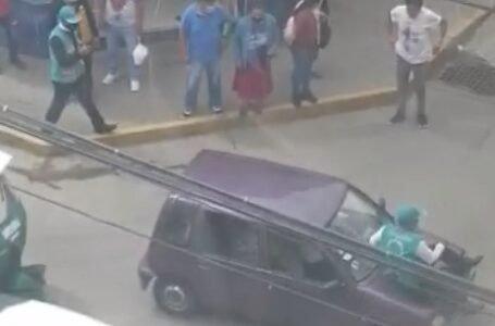 Denuncian agresión de transportistas a inspectores de tránsito