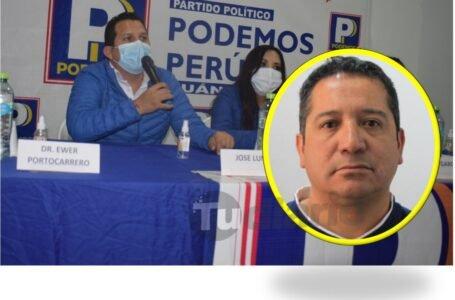 Partido de Daniel Urresti inscribió a limeño como candidato al Congreso por Huánuco