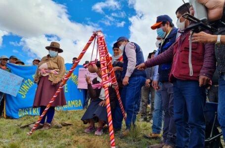 Construyen sistema de riego para seis poblados de Chacabamba