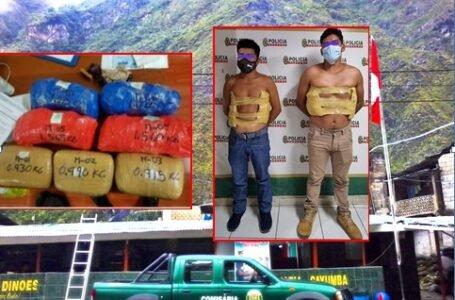 Cayumba: decomisan más de 10 kilos de droga y detienen a 3 personas