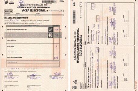 Una de las primeras actas con apelación resueltas por el JNE fue de Huánuco a favor de Perú Libre