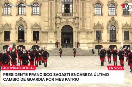 Presidente Sagasti encabeza última ceremonia de cambio de guardia