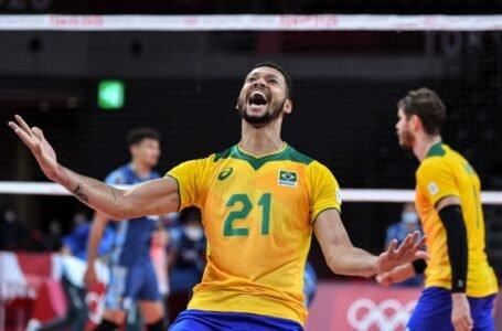 Brasil vence a Argentina en vibrante partido de voleibol masculino en Tokio 2020